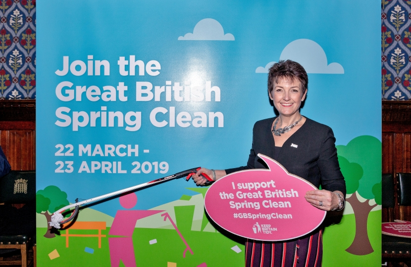 Jo Churchill MP supports Great British Spring Clean 2019