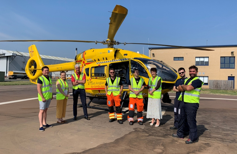 Jo Churchill MP at East Anglian Air Ambulance